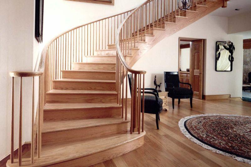 Escaleras barandillas y pasamanos de madera en sonseca - Casas con escaleras interiores ...